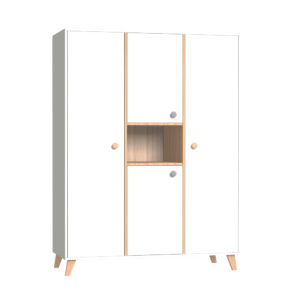 Faktum szekrény Colette Fehér 3 osztású